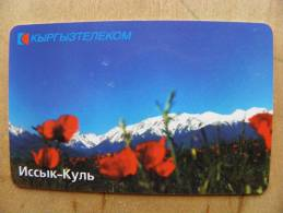 Chip Phone Card From Kyrgyzstan, Landscape, Issyk-Khul Lake, Mountains, - Kyrgyzstan