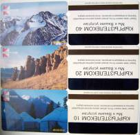 Lot Of 3 First (!) Phone Cards Cartes From KYRGYZSTAN Kirgisistan Kirghizistan, ALCATEL, Landscape Paysage Landschaft