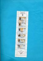 FRANCE   Carnet De 6 Timbres   1988   Y&T: BC 2523  Dernier Timbre Légèrement Détaché Avec Vignette à Gauche  Oblitérés - Personnages