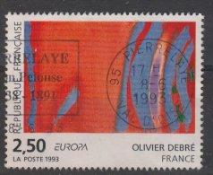 France 1993 - Y & T - Oblitéré - N° 2797   Olivier Debré - Europa - Beau Cachet Rond !!!!!! - France
