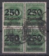 DR Minr.293 Gestempelt 4er Block - Deutschland