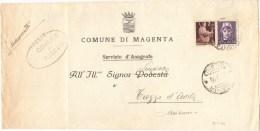 R843) UMBERTO II MANOSCRITTO A TARIFFA RIDOTTA Del 10.5.46 - 5. 1944-46 Luogotenenza & Umberto II