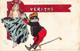 HUMOR-CARICATURE-AFFAIRE DREYFUS-serie N°2-VG 1901-2 SCAN - Humour