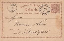 DR Ganzsache K1 Nordhausen Bahnh. 19.10.74 Gel. Nach Ungarn - Deutschland