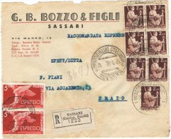 R853) UMBERTO II RACCOMANDATA ESPRESSO Del 17.5.46 - 5. 1944-46 Luogotenenza & Umberto II
