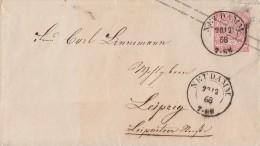 NDP Ganzsachen-Umschlag 1 Groschen K2 Neudamm 28.12.68 - Norddeutscher Postbezirk