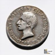 España - Medalla Alfonso XII - Hacia El Año 1880 - Royal/Of Nobility