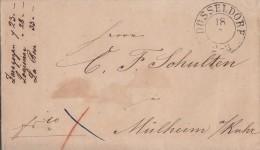Brief K2 Düsseldorf 18.7.1849 Gel. Nach Mülheim / Ruhr - Deutschland