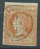 ESPAGNE SPANIEN SPAIN ESPAÑA 1860 4 CUARTOS ISABEL II ED 52, MI 44, SG 64, SC 50, YV 48 - 1850-68 Königreich: Isabella II.