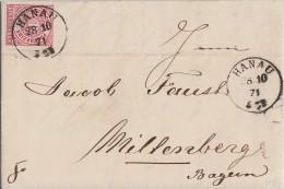 NDP Brief EF Minr.16 K1 Hanau 28.10.71 - Norddeutscher Postbezirk