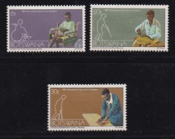 BOTSWANA, 1981, Mint Hinged Stamps , Year Of The Disabled, 270-272 , #795 - Botswana (1966-...)