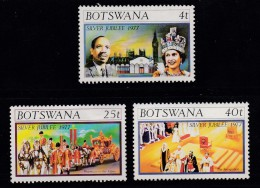 BOTSWANA, 1977, Mint Hinged Stamps , QEII Jubilee, 179-181 , #729 - Botswana (1966-...)