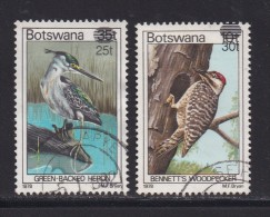 BOTSWANA, 1981, Cancelled Stamps , Definitives Birds Overprints, 281-282 , #805 - Botswana (1966-...)