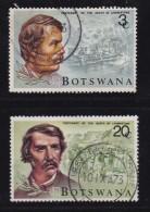 BOTSWANA, 1973, Cancelled Stamps , Livingstone, 100-101 , #661 - Botswana (1966-...)