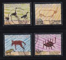 BOTSWANA, 1975, Cancelled Stamps , Rock Paintings, 136-139 , #682 - Botswana (1966-...)