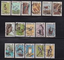 BOTSWANA, 1978, Cancelled Stamps , Definitives Birds (16 Values Only), 198=214 , #767 - Botswana (1966-...)