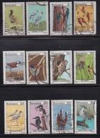 BOTSWANA, 1978, Cancelled Stamps , Definitives Birds (12 Values Only), 198=214 , #769 - Botswana (1966-...)