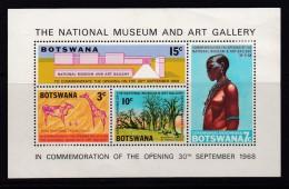 BOTSWANA, 1968, Cancelled Block Of Stamps , National Museaum, Bl01 , #630 - Botswana (1966-...)