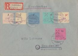 Lokalausgabe Großräschen R-Brief Mif Minr.1,3,5,7,10,11 Großräschen 19.11.45 - Deutschland