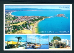 BULGARIA  -  Sunny Beach And Nessebar  Multi View  Unused Postcard - Bulgaria