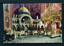 BULGARIA  -  Sofia  Interior Of Alexander Nevski Church  Unused Postcard - Bulgaria