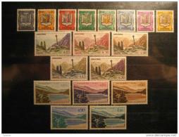 ANDORRA Yvert 153A/164 Hinged Set18 Stamps Escudo Arm Siege Crew Creu Gothique Meritxell Encamp Engolasters Lake ANDORRE - Nuevos