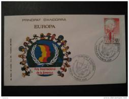ANDORRA 1985 Any Internacional De La Joventud SPD FDC Sobre Cover Enveloppe Andorre - FDC