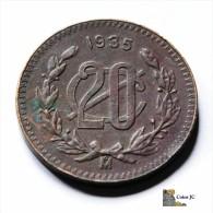 México - 20 Centavos - 1935 - Mexique