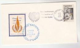 1973 USA EVENT COVER United Nations Anniv RAMADA INN HOTEL LINCOLN NEBRASKA HONORING UN LABEL Un Stamps Capernicus - UNO