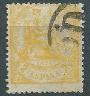 ESPAGNE SPANIEN SPAIN ESPAÑA 1874 I REPÚBLICA ALEGORÍA ED 143, YV 144, MI 135 SG 217 SC 201 - Oblitérés