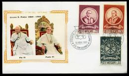 37583) Vatikan - Michel 553 / 555 - FDC - Papst Pius IX. Und Papst Paul VI. - FDC