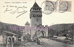 46 - CAHORS - Pont Valentré - 1905 - 2 Scans - Cahors