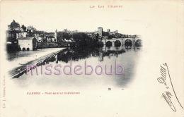 46 - CAHORS - Pont Neuf Et Cathédrale  - 1900 -  Dos  Précurseur -  2 Scans - Cahors