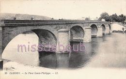 46 - CAHORS - Pont Louis Philippe -  Dos Vierge  - TTBE  - 2 Scans - Cahors