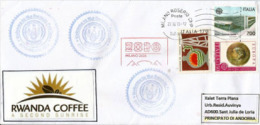 RWANDA COFFEE. UNIVERSAL EXPO MILANO 2015, Letter From The RWANDA Pavilion, With Official Stamp EXPO MILANO - Autres