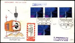Germany Stuttgart 1965 / German Radio Exhibition / Registered Letter Einschreibebrief R 7 Stuttgart 1 - Telecom
