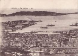 TOULON VUE GENERALE /CARTE DOUBLE (DIL165) - Toulon