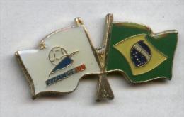 Pin´s Football Coupe Du Monde France 98 - Drapeau Brésil - Fútbol