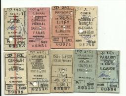 9 Tickets - CP(Comboios De Portugal) - Trenes