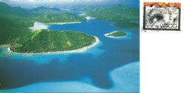 POLYNESIE FRANCAISE  HUAHINE  Aerial View  Nice Stamp - Polinesia Francese