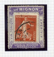 "Porte Timbre Publicitaire -  "" Un MIGNON Vin Tonique "" - 10 Centimes N° 138 - Rare - Advertising"