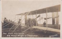 PAU . ECOLE D´AVIATION . MM WILBUR WRIGHT ET TISSANDIER . PHOTO CALLIZO . 2 - Pau