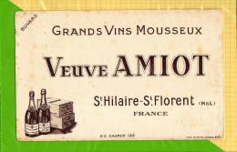 BUVARD & Blotting Paper  : Grands Vins Mousseux VEUVE AMIOT  Saint Hilaire St Florent - Liquor & Beer