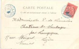 3433 DIEGO SUAREZ Madagascar Carte Postale 10 C Groupe Rouge Yv 43 - Madagaskar (1889-1960)