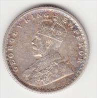 @Y@    BRITISH India 1/4  Rupee 1918   EF   Nice Patina  (2994) - India