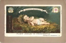 CARTE POSTALE IMAGE RELIGIEUSE D ITALIE PUER JESUS IN PRAESEPIO - Devotion Images
