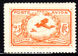 France 1923 Aviation Label Meeting With Montpellier. MNH. - Erinnophilie