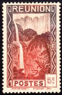 Reunion 1933 Salazie Cascade 5c Bicolor. Scott 130. MH. - Reunion Island (1852-1975)