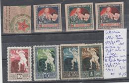 TIMBRES DE LETTONIE NEUF Nr 55A/8A ND**  SURTAXE AU PROFIT DE LA CROIX ROUGE - 39/42**/* ANNEE 1919 -20 COTE 12.25€ - Lettonie
