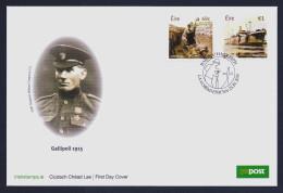 "2015 IRELAND ""CENTENARY OF WORLD WAR I / GALLIPOLI"" FDC - FDC"